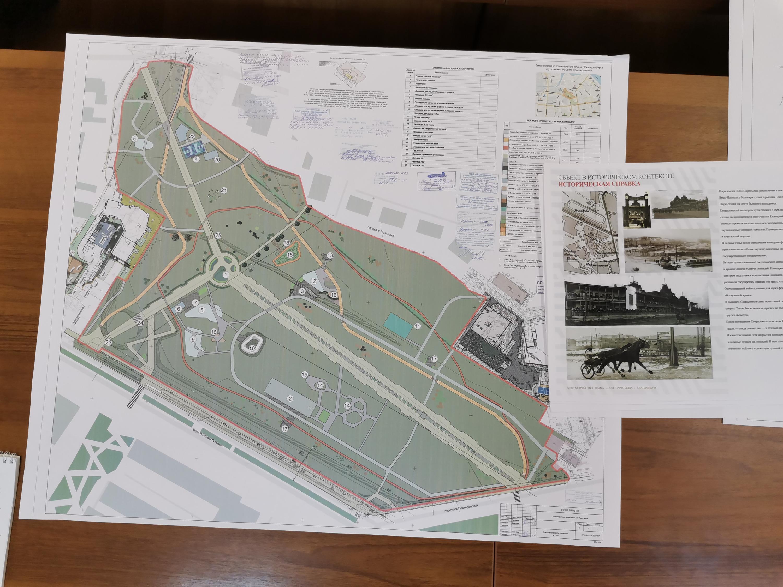 Одна из схем проекта реконструкции парка