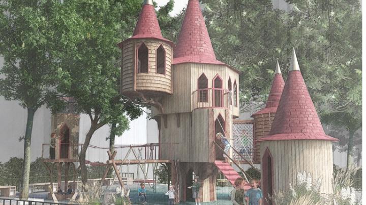 На Сельмаше построят пешеходную зону со «старинным замком». Архитектор оценил благоустройство