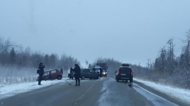 В ДТП на трассе в Прикамье погиб водитель «Дэу-Матиз»