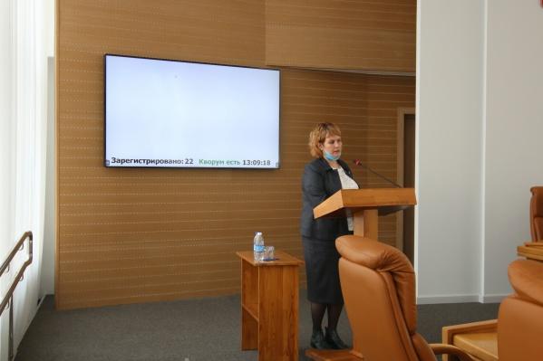 С докладом выступила руководитель городского управления образования Татьяна Ситдикова