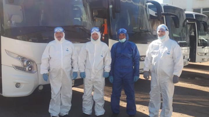 Для вывоза вахтовиков из Якутии привлекли водителей и автобусы «Башавтотранса»