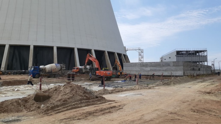 На Ростовской АЭС завершилось строительство первого блока вентиляторных градирен для энергоблока № 3