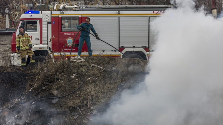 В Красноармейском районе вновь бушуют пожары