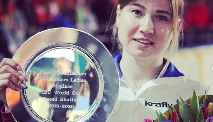 Челябинская конькобежка Ольга Фаткулина заняла третье место в зачёте Кубка мира