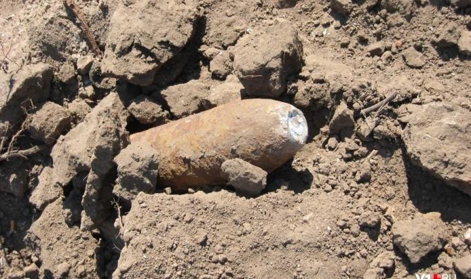 Рабочие под Волгоградом наткнулись на боеприпасы времен войны