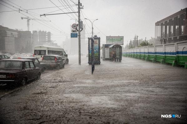 На этой неделе в Новосибирске будут дожди и град