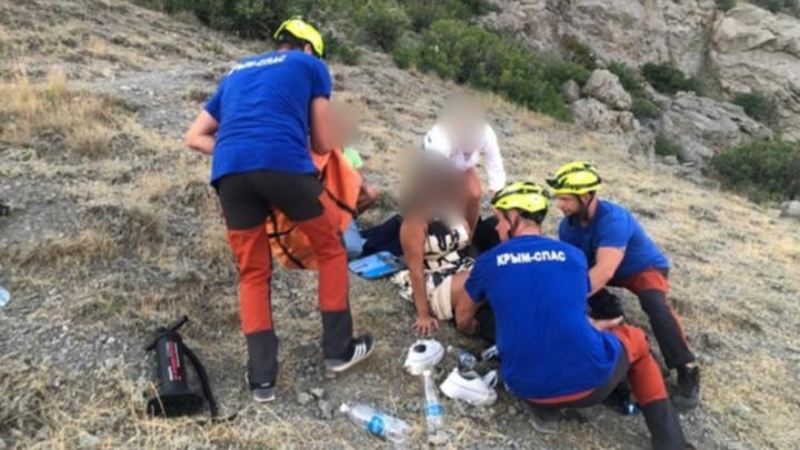 Сибирячка сломала ногу на тропе Голицына в Крыму — ей на помощь отправились спасатели