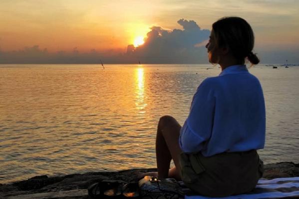 Омичка наслаждается простором и природой Бали