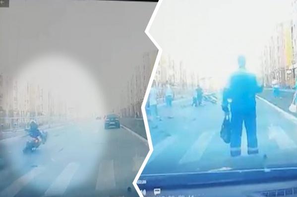 Авария произошла на пешеходном переходе