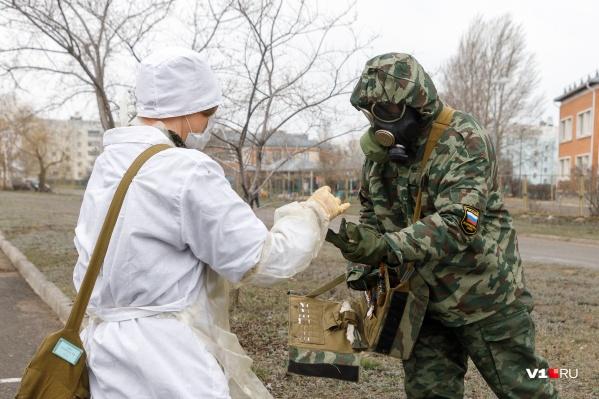 Военные специалисты работали в Зауралье с конца октября