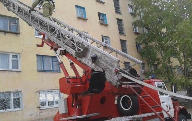 В Кургане произошел пожар в девятиэтажном доме