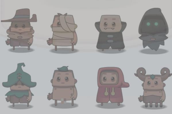 Сейчас все персонажи нарисованы сторонним художником, выложившим их в свободный доступ