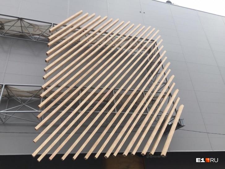 Фасад делают «под дерево»
