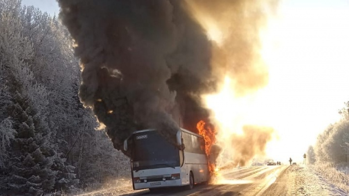 Прокуратура Прикамья проверит случай с загоревшимся автобусом, в котором ехали призывники
