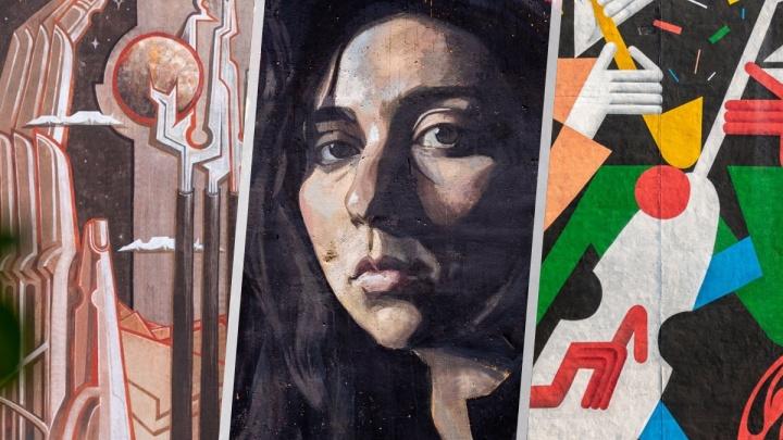 Уральский Гефест и девушка на заброшке: 7 домов Екатеринбурга, которые стали картинами