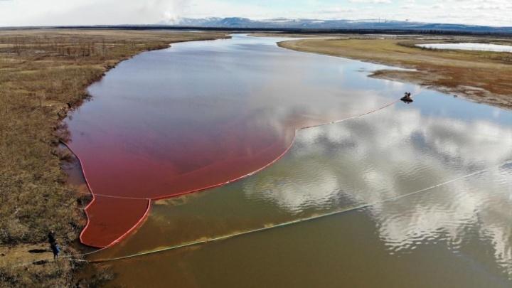 Губернатор рассказал, когда будет ликвидирован разлив дизтоплива в Норильске