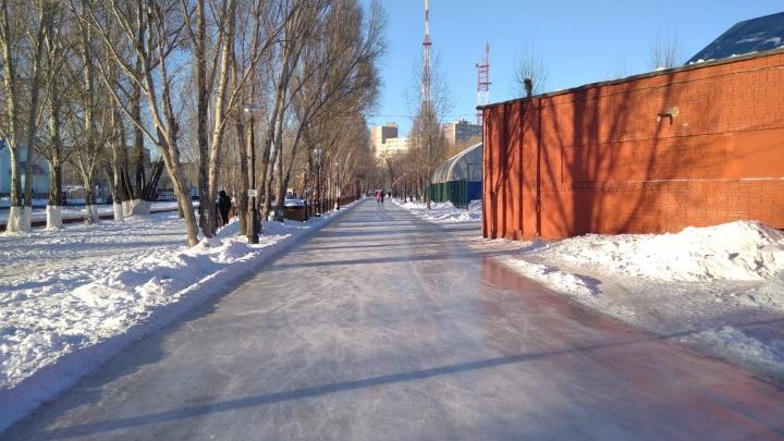 Стала известна дата открытия катка в парке Гагарина