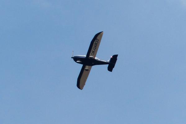 Автором надписи, появившейся над Колыванским районом, стал владелец частного самолета