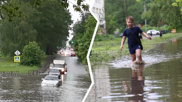 Машины ушли под воду: как затопило Ярославль — самые яркие кадры