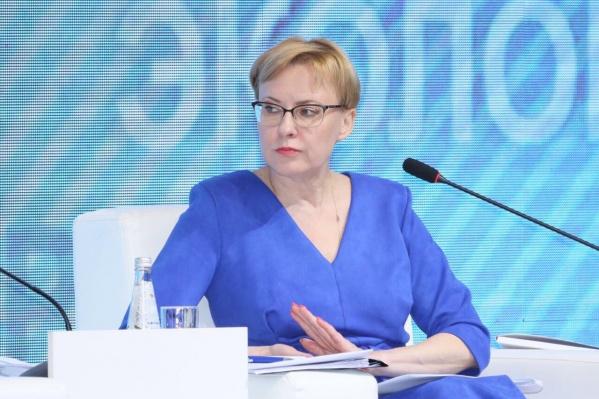 """Елена Лапушкина занимает пост мэра с <nobr class=""""_"""">2017 года</nobr>"""