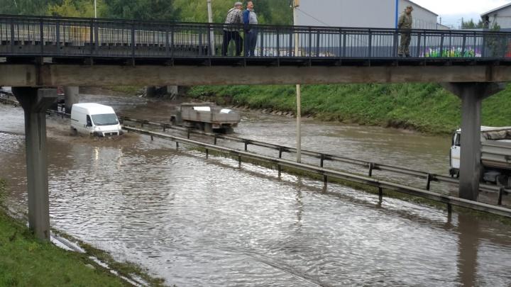 Мэрия пообещала устранить потоп на Шефской до конца дня