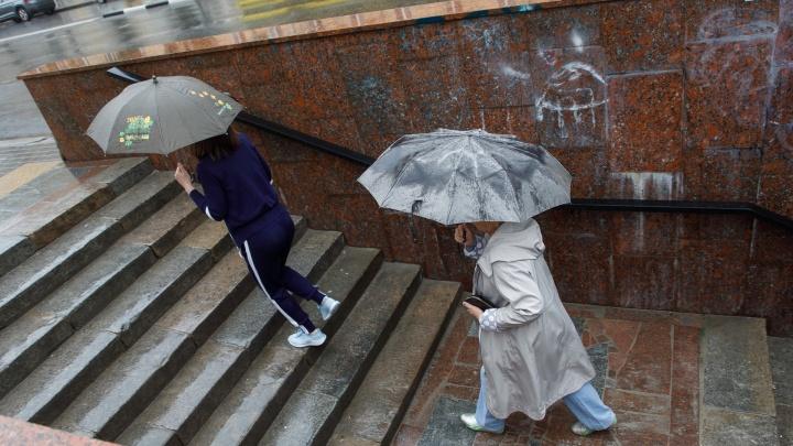 На Волгоград обрушился сильный ливень