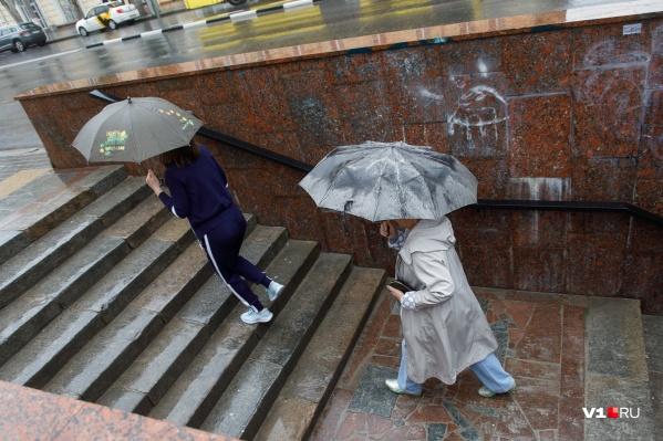 Дождь с грозами волгоградцам обещают на протяжении всего дня