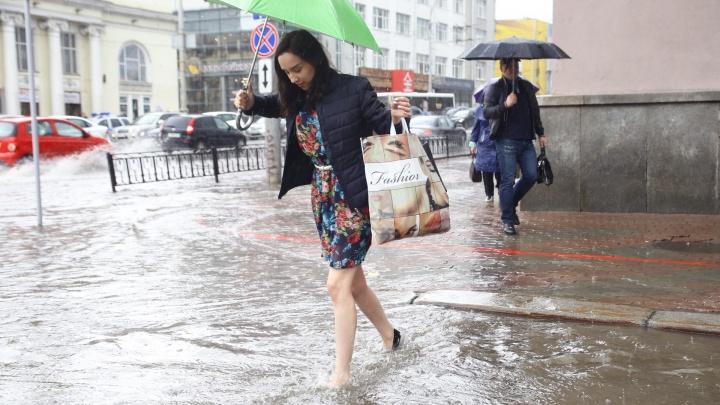 На Свердловскую область снова надвигаются ливни