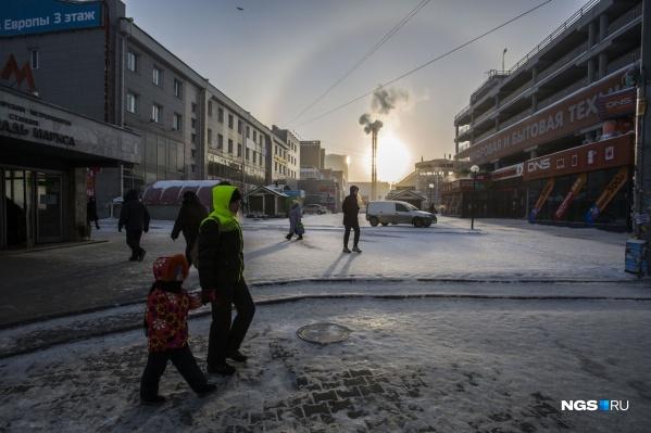 Лишь один погодный сервис предвещает в Новосибирске снег