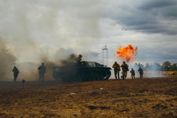 Даже проигрывая в соотношении сил и средств, красноармейцы подорвали немецкую артиллерийскую установку