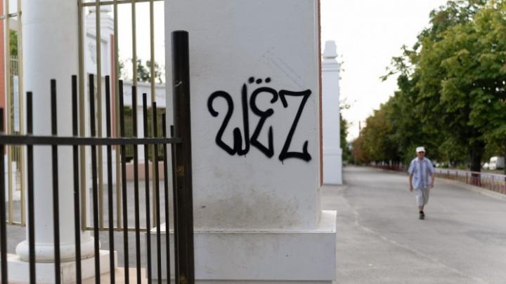 «Надписи перекроем портретом Гагарина»: волгоградские вандалы уродуют и разоряют закрытый на ремонт парк