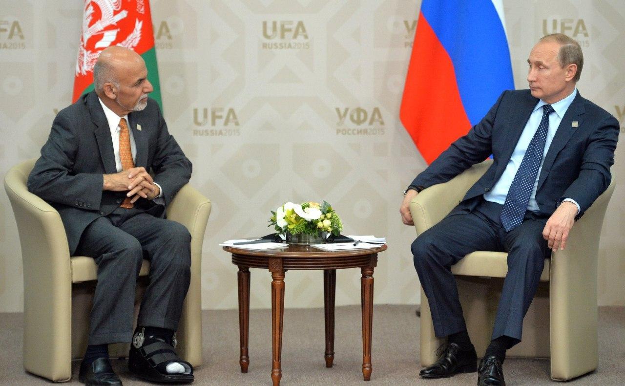 Встреча Владимира Путина с президентом Афганистана Ашрафом Гани.