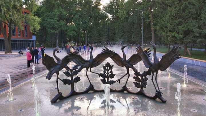 В мэрии Уфы рассказали, по какому графику будет работать фонтан «Танцующие журавли»
