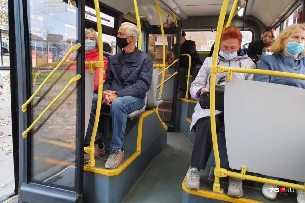 Проверки соблюдения масочного режима в общественном транспорте в Ярославской области проходят регулярно