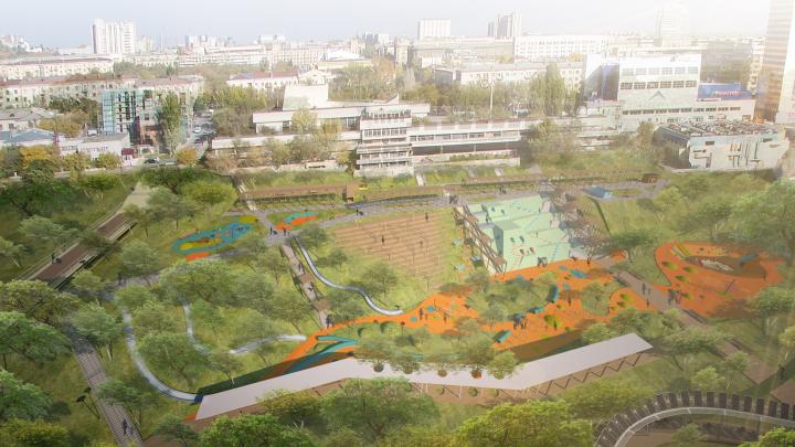 Тропы, бассейны, детская зона: в Волгограде презентовали проект развития поймы реки Царицы
