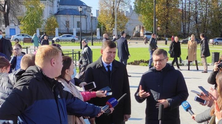 Глава федерального Минстроя и губернатор Евгений Куйвашев встретились в Верхотурье
