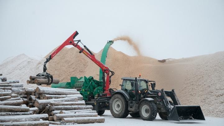 В Архангельске в районе 3-го лесозавода открыли новое предприятие по производству пеллет