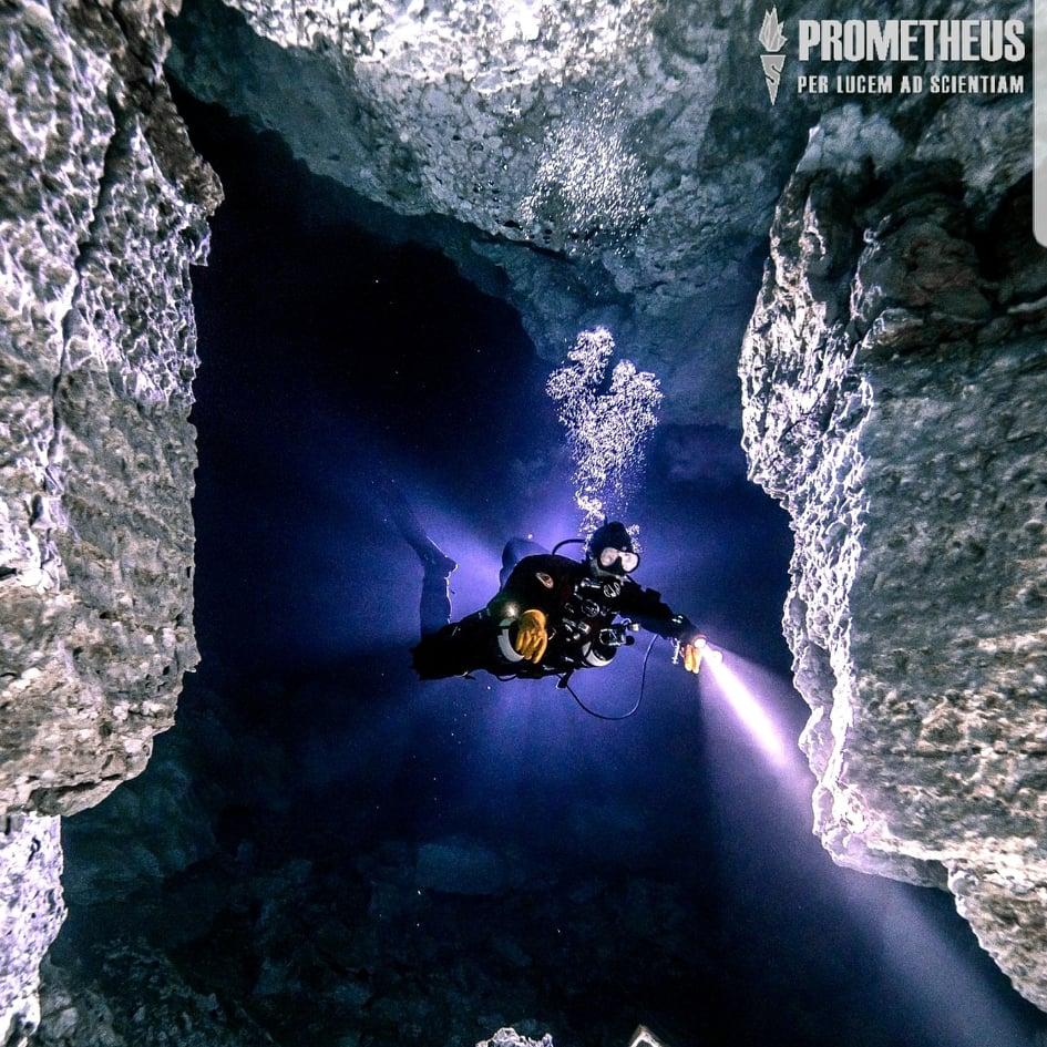 Это тоже Ординская пещера. Спелеодайверы продолжают изучение пещеры и не исключены новые открытия