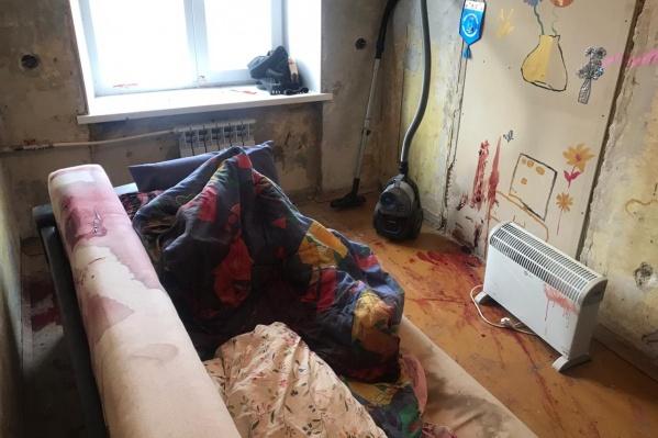 Одна из комнат, где расстреляли людей