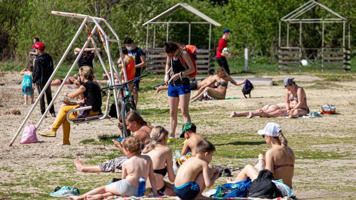 «Попутали берега». В разгар пандемии коронавируса челябинцы «изолировались» на пляжах