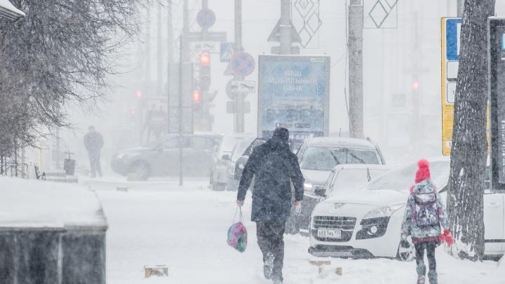 МЧС Прикамья предупреждает о метели и морозах до -27°С