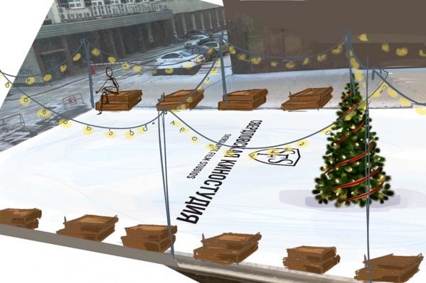 По периметру катка хотят развесить фонарики, чтобы создать праздничное настроение