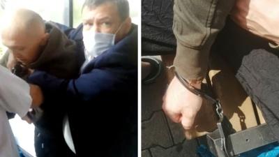 Приковали наручниками к лавке: в Екатеринбурге охрана ТЦ жестко задержала нарушителей масочного режима