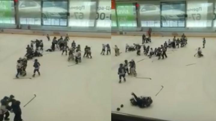 В Тольятти юные хоккеисты устроили массовую драку на льду