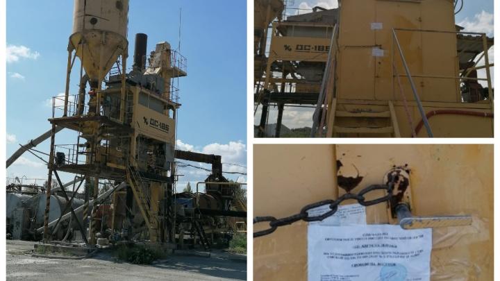 Судебные приставы опечатали асфальтовый завод, отравлявший воздух