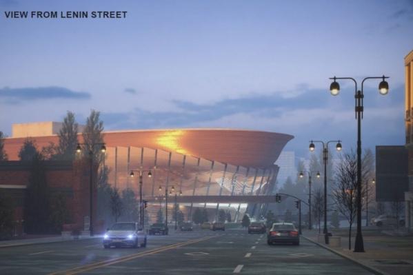 По замыслу проектировщиков, так будет выглядеть новый оперный со стороны улицы Ленина