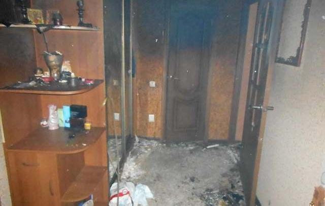 У омички сгорела квартира после того, как к ней пришли сотрудники газовой службы