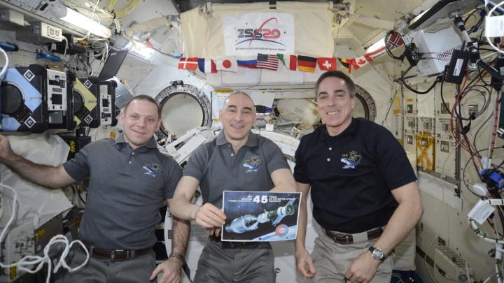 Пермяки сфотографировали МКС и записали прямой эфир с космонавтами