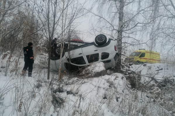 Пассажирка машины не пострадала