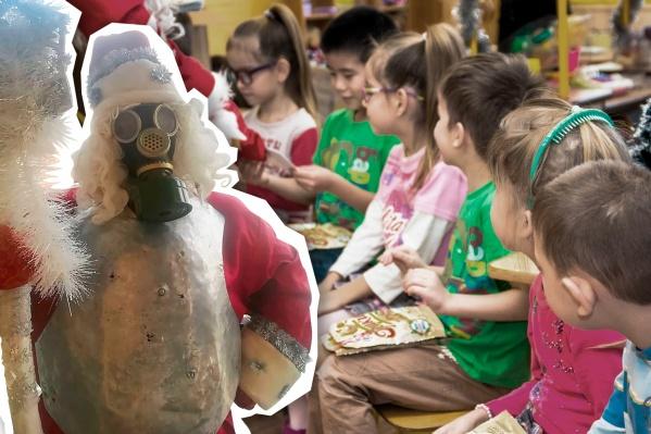 Приглашенному Деду Морозу в этом году нельзя в садик даже в маске (и противогазе)